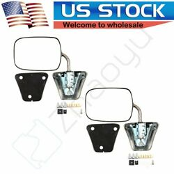 Stainless Steel Chrome Manual Side View Mirrors LH & RH Pair Set for Chevy Truck $42.99