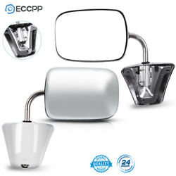 Stainless Steel Chrome Manual Side View Mirrors LH & RH Pair Set for Chevy Truck $44.99