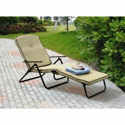 Outdoor Chaise Lounge Chair Padded Folding Outdoor Patio Furniture Pool Backyard