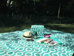 Large Picnic Blanket Outdoor Rug w Water-Resistant Padding for Camping