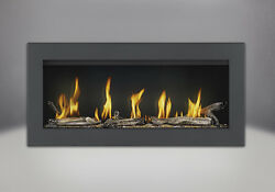 Napoleon Vector 38 Linear Gas Fireplace w eFire App LED Color & Black Surround