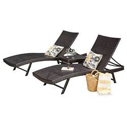 Kauai 6pc Wicker Chaise Lounge Set - Brown - Christopher Knight Home