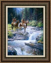 WHEN WATERS SPEAK by Martin GRELLE. SOLD OUT! MAGNIFICENTLY FRAMED MINT PPR #1