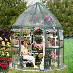 Outdoor Portable Flowerhouse Greenhouse Gardening Plastic Frame Storage Bag New