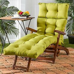 Chaise Lounge Cushion Deluxe UV Resistant Kiwi For Outdoor Patio Yard Furniture