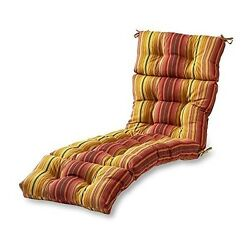 Outdoor Patio Chaise Cushion Lounge Classic For Garden Furniture Yard Home Decor