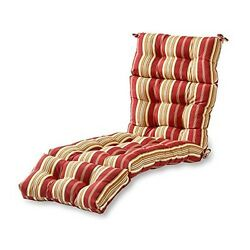 Outdoor Patio Chaise Cushion Lounge Stripes For Garden Furniture Home Yard Decor