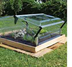 Cold Frame Double 3' x 3' Mini Greenhouse Weatherproof Polycarbonate Panels