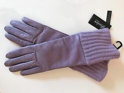 NWT GUDER Gloves Leather Cashmere Lavender Luxury ITALY 7