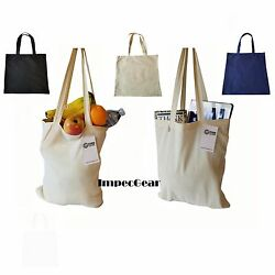 SET OF 6 100% Cotton Reusable Grocery Blank Shopping Tote Totes Bag Bags 14 x 16 $18.99