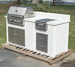 NEW - Custom Summerset TRL 32 inch Barbecue BBQ Grill Outdoor Kitchen Island