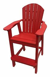 Phat Tommy Recycled Poly Resin Balcony Chair  Durable and Adirondack Patio Fu...