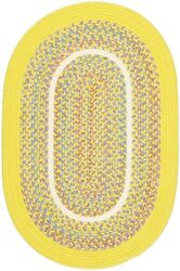 BRAIDED RUG YELLOW BRAIDED INDOOR OUTDOOR PATIO RUG 2x3 3x5 5x8 8x10 ROUND OVAL