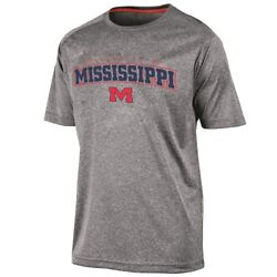 Mississippi Ole Miss Rebels NCAA Champion quot;Impactquot; Performance S S Shirt Gray $9.95