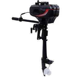 New 2 Stroke 3.5HP Heavy Duty Outboard Motor Boat Engine wWater Cooling System
