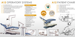 Flight Dental A12 Operatory Chair Package Delivery Unit Light Cuspidor+Stool