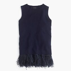 $348 NWT J CREW Collection Navy Italian Cashmere Feather Shell Top SOLD OUT XXS