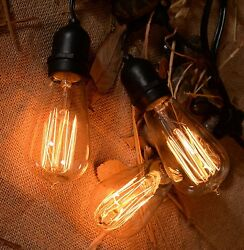Vintage String Lights Patio Lights W Retro Edison Bulbs Weatherproof  Outdoor