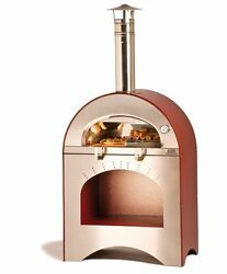 Alfa Pizza Forninox Brick Hearth Outdoor Pizza Oven Wood-Fired Yard Garden Deck