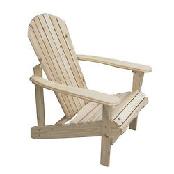 Outdoor Adirondack Wood Chair Patio Lawn Deck Seat Garden Furniture WPlans
