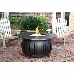 Fire Pit Heater Table w Cover Copper Backyard Patio Deck Outdoor 47