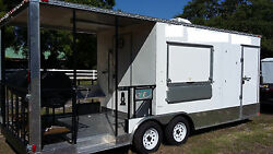 22FT Concession trailer with 8Ft Grilling Patio & 2 Grills. Must See!!