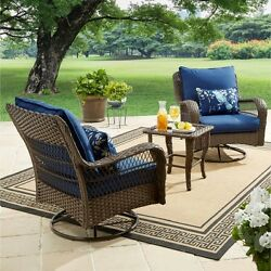 Garden Furniture Set Coffee Table Chairs Seats Bistro Patio Outdoor Cushioned
