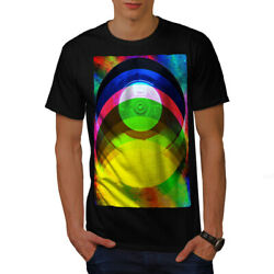 Wellcoda Vinyl Colored Player Mens T-shirt Music Graphic Design Printed Tee