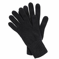 Mens Cashmere Gloves Made in Scotland Black