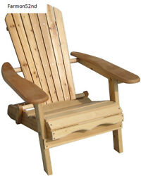 Foldable Adirondack Chair-Patio Garden Outdoor Living Chair