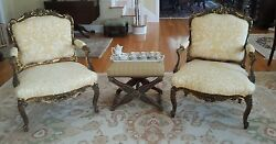 PAIR OF ANTIQUE. FRENCH ARMCHAIRS