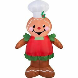 Gemmy Airblown Inflatable Gingerbread Girl Christmas Holiday Outdoor Decor NEW