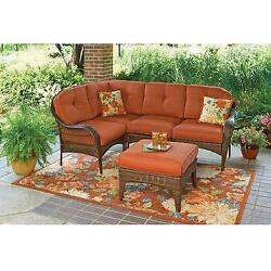 Patio Outdoor Garden Seat Set Ottoman Sofa Lounge Chairs