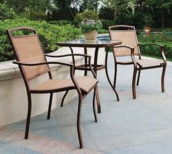 Target Patio Furniture Sears 3 Piece Bistro Set Table 2 Chairs Outdoor Deck Pool
