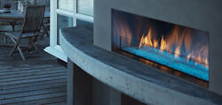 Majestic Palazzo outdoor linear fireplace w IntelliFire ignition Single-Sided