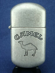 NOS 1997 Joe CAMEL Cigarette LIGHTER. Brushed Metal Flip Top. Mint  Old Stock