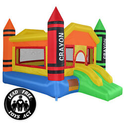 Mini Crayon Bounce House Slide Jump Bouncer Inflatable Only $194.99