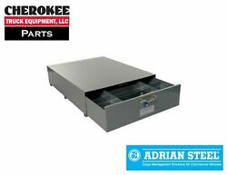 Adrian Steel SA 40 3 Compartment Floor Drawer 40w x 12h x 51.5d Gray $1730.56