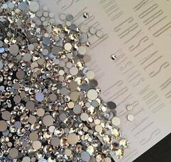 Swarovski crystals CLEAR flat back stones gems charms for nail art x 75 pcs HOT GBP 3.99