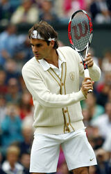 Nike Federer Wimbledon 2008 CASHMERE CARDIGAN - 287 Nadal 08 Court Cement AJ3
