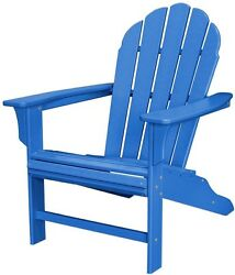 Outdoor Patio Furniture Chair Dining Garden Yard Lawn TrexnBlue Adirondack Home