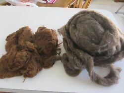 Raw Alpaca Wool Fiber - Cinnamon & Other Carded Wool (Unsure about source)