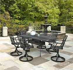 Dining Table Set For 6 Best Outdoor Furniture Patio Chairs Swivel Umbrella Hole