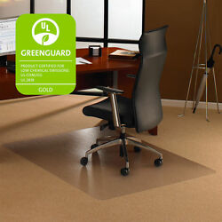Carpet Chair Mat Office Floor Desk Computer Clear Hard Hardwood Plastic 48 x 53