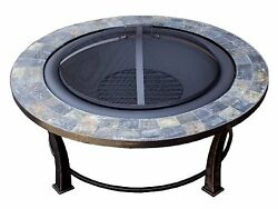 Fire Pit Outdoor Patio Fireplace Round Table Wood Burning Backyard Deck Heater