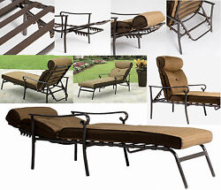 Pool Chaise Lounge Beach chair Folding Patio Outdoor Garden Backyard Lawn Deck