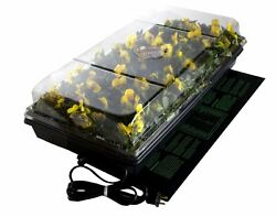 Seed Starter Kit Germination Heat Mat 72 Cell Mini-Greenhouse Tray Humidity Dome