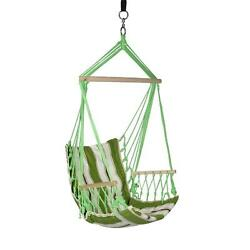 Hammock Hanging Chair ArmreSTS Straps Outdoor Patio Furniture 2.33 ft. Polyester