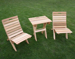 Cedar Folding Travel Chairs And Table Creekvine Designs For TravelGarden Patio
