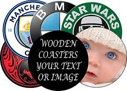 Personalised Coasters Gloss Coated - any image or text - CIRCULAR 9cm diameter $52.83